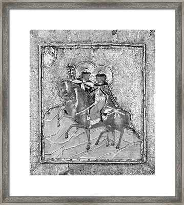 Saints Boris And Gleb Framed Print