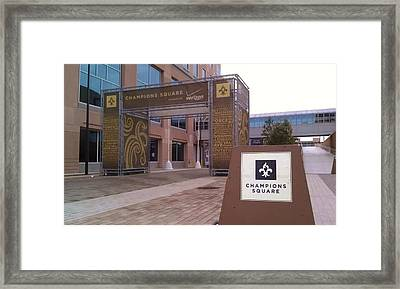 Saints - Champions Square - New Orleans La Framed Print