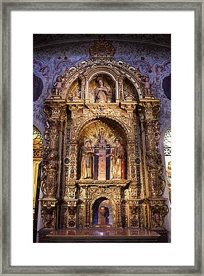 Saints Justa And Ruffina With Giralda Tower Reredos Framed Print