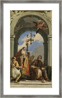 Saints Maximus And Oswald Framed Print by Giovanni Battista Tiepolo