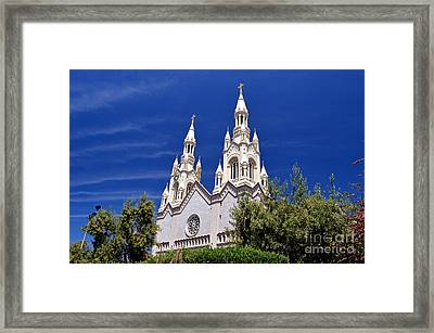 Saints Peter And Paul Church In San Francisco Framed Print by Jim Fitzpatrick