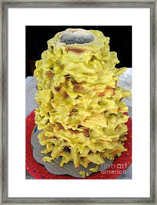 Sakotis. Lithuanian Tree Cake. Framed Print