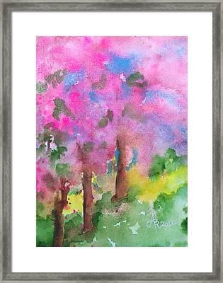 Sakura Framed Print by Anna Ruzsan