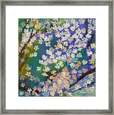 Sakura Oil Painting Framed Print by Michael Creese