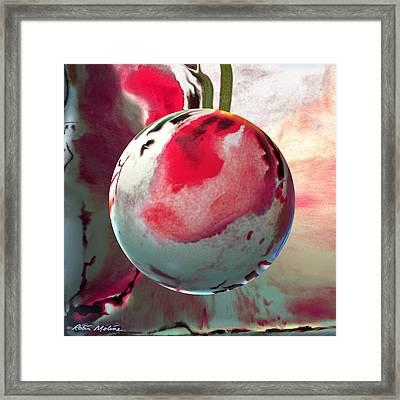 Sakura Sphere Framed Print by Robin Moline