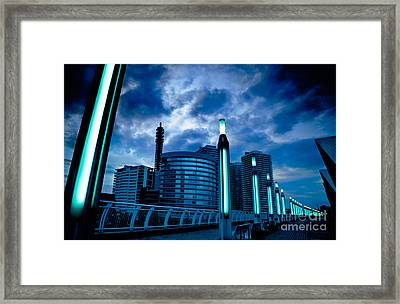Sakuragicho At Night Framed Print by Julian Cook