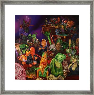 Salad Bar Framed Print by Victor Powell