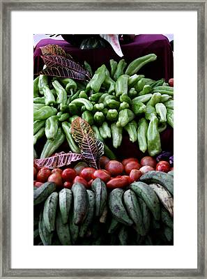 Salad Fixings Framed Print