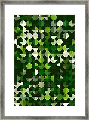 Salad Geometric Circle Pie Vertical Pattern Framed Print by Frank Ramspott