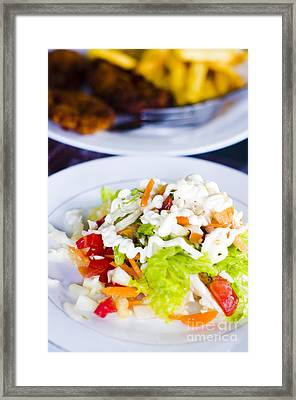 Salad Framed Print by Tuimages