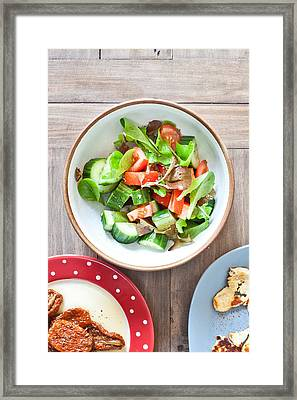 Salad Framed Print by Tom Gowanlock