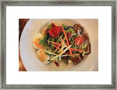 Framed Print featuring the photograph Salade Nicoise by Gerry Bates