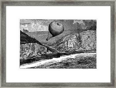 'saladin' Balloon Crash Framed Print by Science Photo Library