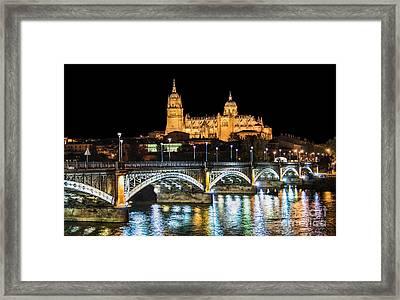 Salamanca At Night Framed Print