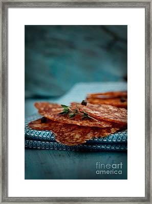 Salami Framed Print by Mythja  Photography