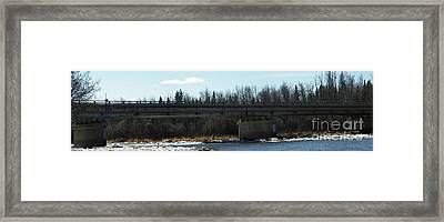 Salcha Bridge Framed Print by Jennifer Kimberly