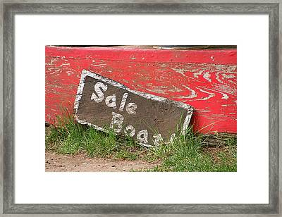 Sale Boat Framed Print by Art Block Collections