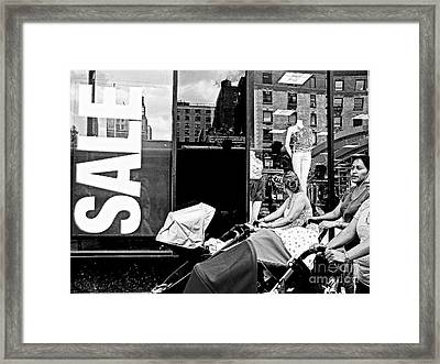 Sale - Lady In The Window Framed Print by Miriam Danar