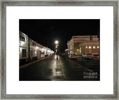 Salem Amtrak Depot At Night Framed Print