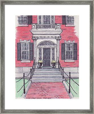 Salem Essex Street Front Door Framed Print