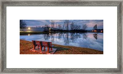 Salem Ohio Industrial Park Sunset Framed Print