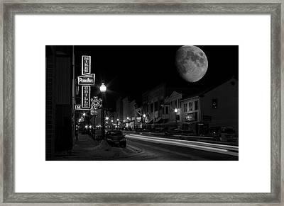 Salem Ohio Winter Moon Framed Print