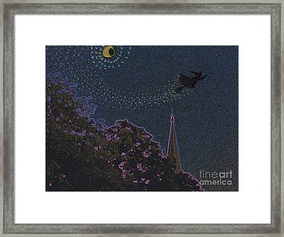 Salem Witch Moon 2 By Jrr Framed Print