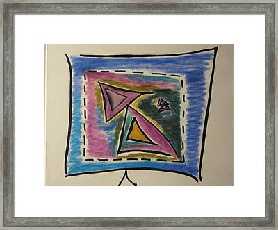 Sales On Tv Framed Print by Lois Picasso