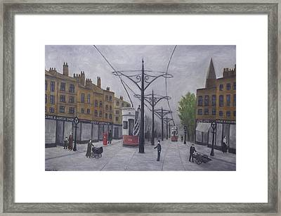 Salford 1910 Framed Print by Ronald Haber