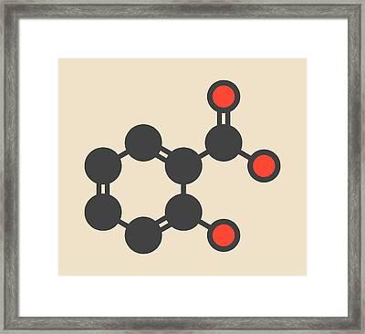Salicylic Acid Molecule Framed Print by Molekuul