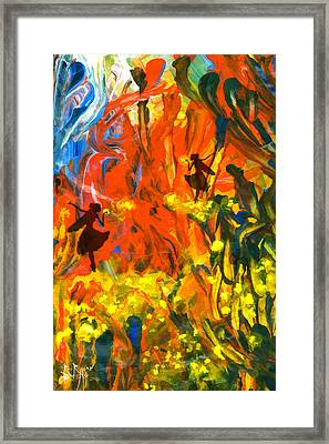 Framed Print featuring the painting Salient Celebration by Ron Richard Baviello