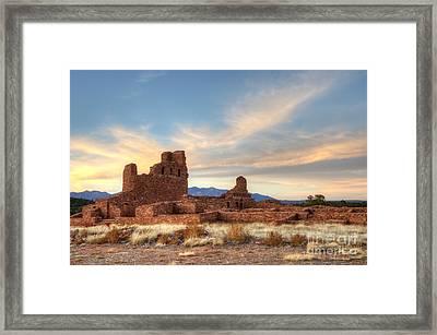 Salinas Pueblo Mission Abo Ruin 4 Framed Print by Bob Christopher