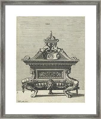 Salinium, Johannes Or Lucas Van Doetechum Framed Print by Johannes Or Lucas Van Doetechum And Hans Vredeman De Vries And Philips Galle