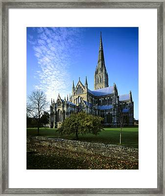 Salisbury Cathedral. 1220-1258. United Framed Print