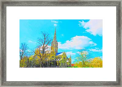Salisbury Cathedral Framed Print by Andrew Middleton