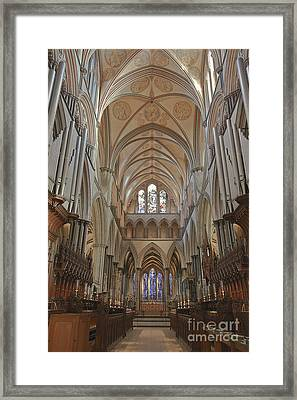 Salisbury Cathedral Quire And High Altar Framed Print