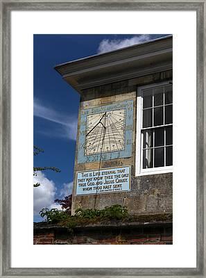 Framed Print featuring the photograph Salisbury Sundial by Ross Henton