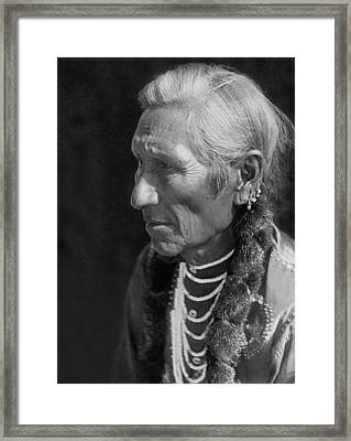 Salish Indian  Circa 1910 Framed Print by Aged Pixel