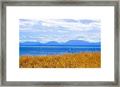 Salish Sea From Hornby Island Framed Print by Brian Sereda