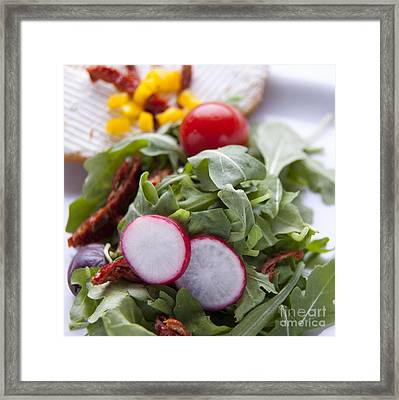 Sallad Framed Print by New  Orleans Food