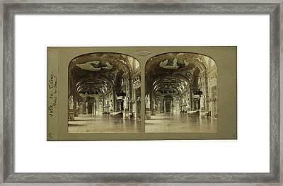 Salle Du Trone Palais Du Senat France, Florent Grau Framed Print