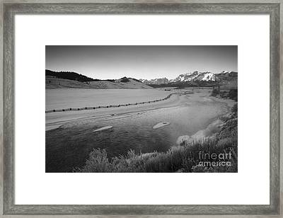 Salmon And The Sawtooths Framed Print