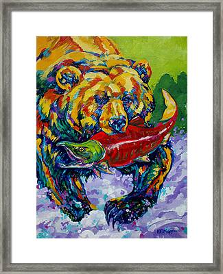 Salmon Bear Framed Print