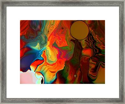 Salmon Chanted Evening Framed Print
