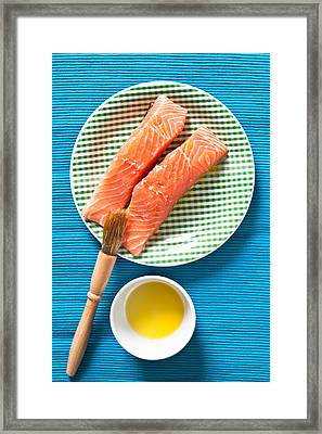 Salmon Fillets Framed Print by Tom Gowanlock