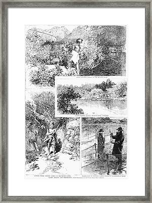 Salmon Fishing, 1888 Framed Print by Granger