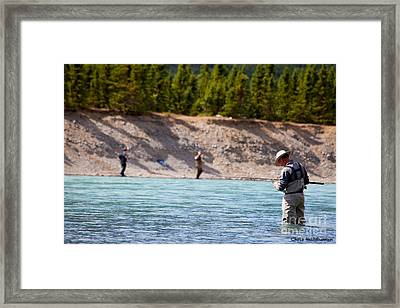 Salmon Fishing Framed Print by Chris Heitstuman