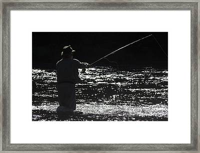 Salmon Fishing Framed Print by Colin Woods