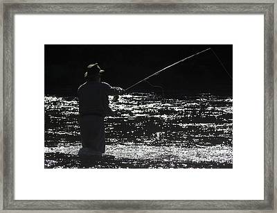 Salmon Fishing On The River Cascapedia Framed Print by Colin Woods