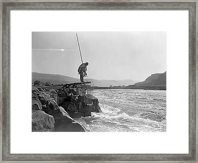 Salmon Fishing Platform 1910 Framed Print